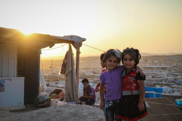small Syrian refugee children in Erbil