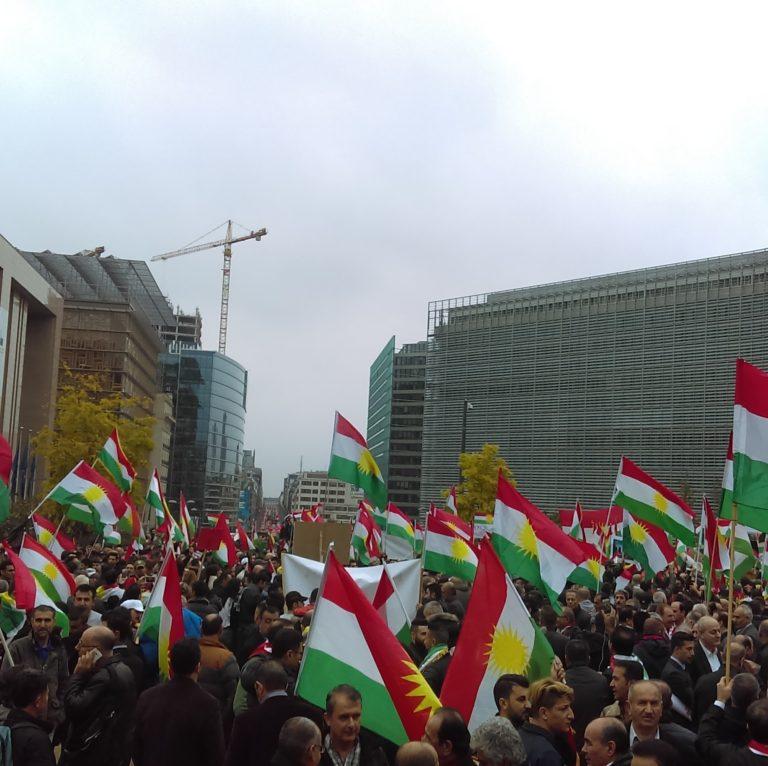 Kurdish_demonstration_at_Schuman_Brussels_25_October_2017