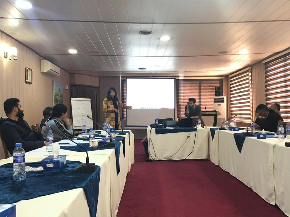 Beatrice Maneshi giving Training on Data Collection in Iraq