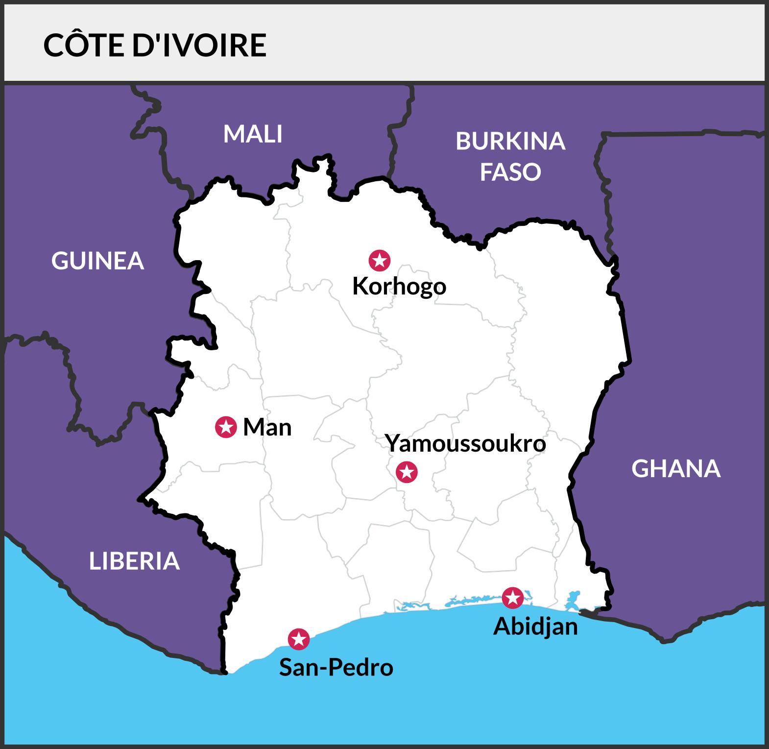 Catalystas Map of Cote d'Ivoire